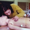 Shari Marshbein and Anastacia VanGorder practice CPR while working for Harpur's Ferry Student Volunteer Ambulance in 1996. Photo by Bradley Wilson 706C22