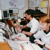 Students with Texas A&M University EMS, in 1996, work in the dispatch area. Photo by Bradley Wilson 718C4A
