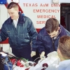 Jim Schaferling and Aaron Segal of Texas A&M University EMS practice their skills in 1996. Photo © by Bradley Wilson