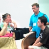 Bradley Wilson, Val Kibler and other people talk at the workshop in where it is.