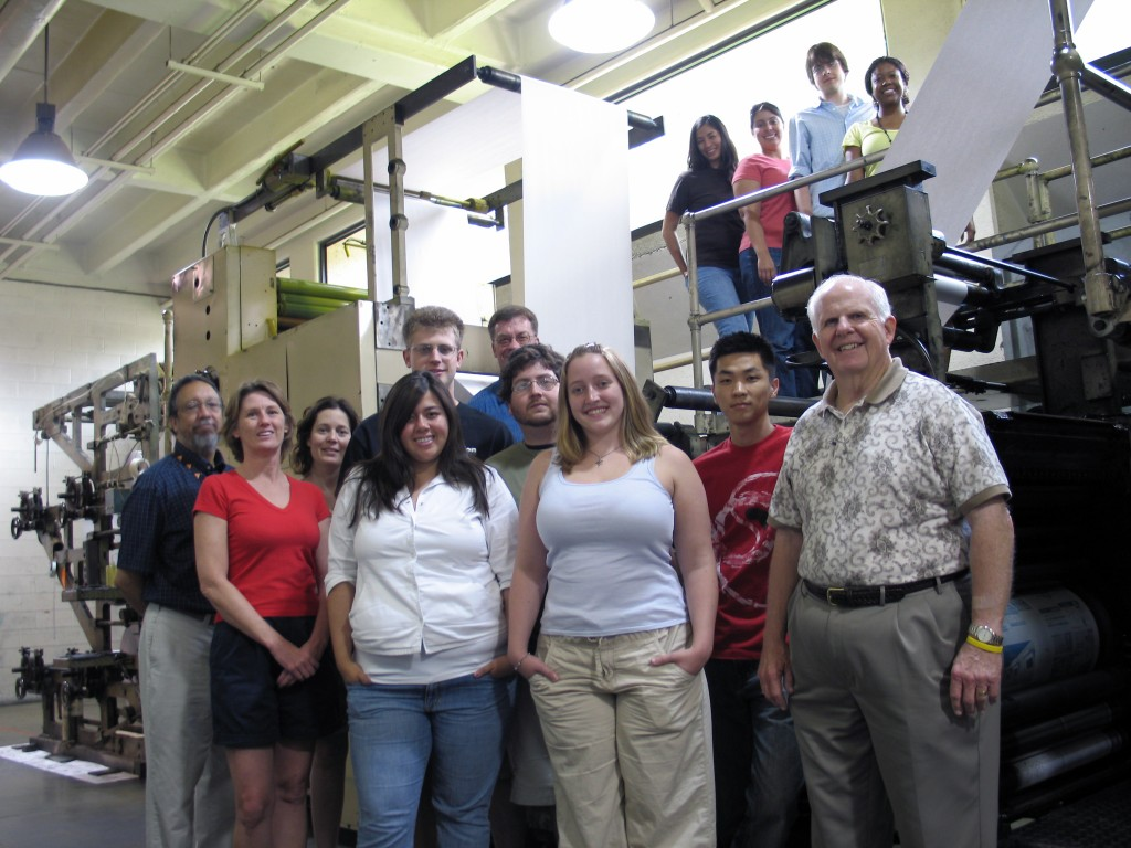(front) George Sylvie, Beth Butler, Amy Zerba, Cristi Parker, Gregory B. Finley, Bradley Wilson, Ryan Claunch, Jackie Stone, David Ok, Griff Singer; (back) Katie Armstrong, Carrie Garza, Joel Gehringer and Bre Thomas