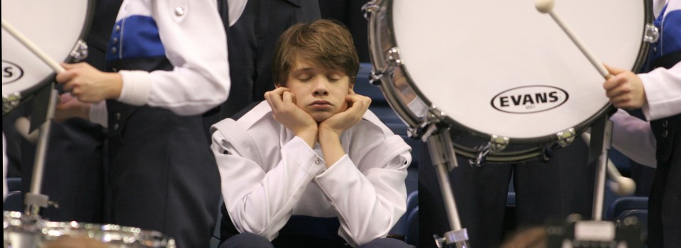 Bored percussionist