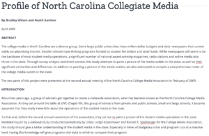 Profile of NC media