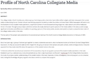Profile of NC media