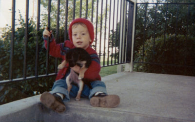 Me with dog, November 1967